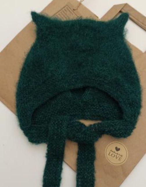 KITTY HAT BOTTLE GREEN