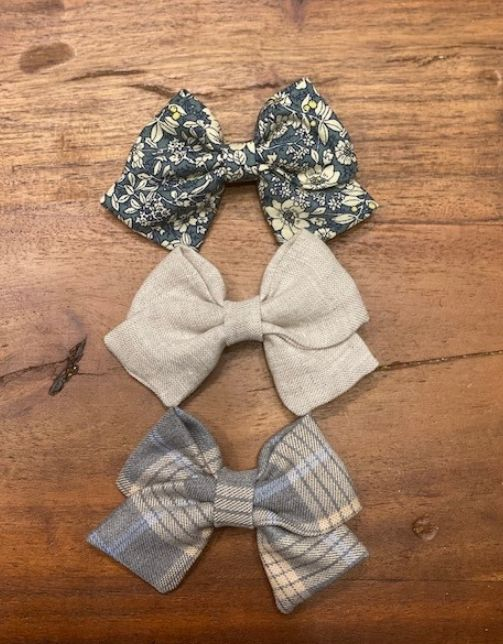 HAIRCLIPS BLUE BEIGE